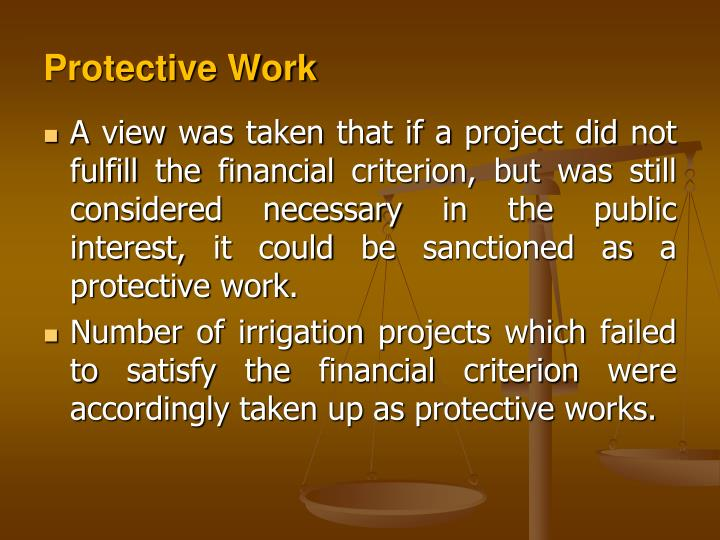 Protective Work