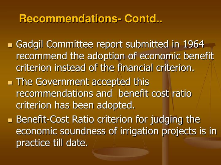 Recommendations- Contd..