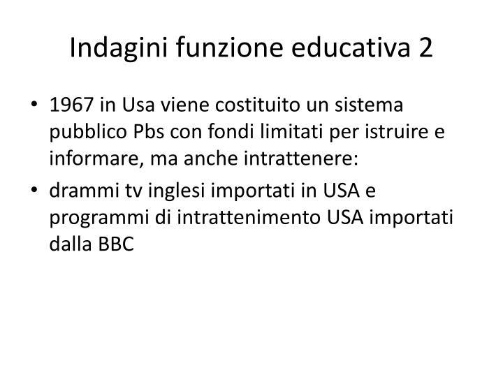 Indagini funzione educativa 2