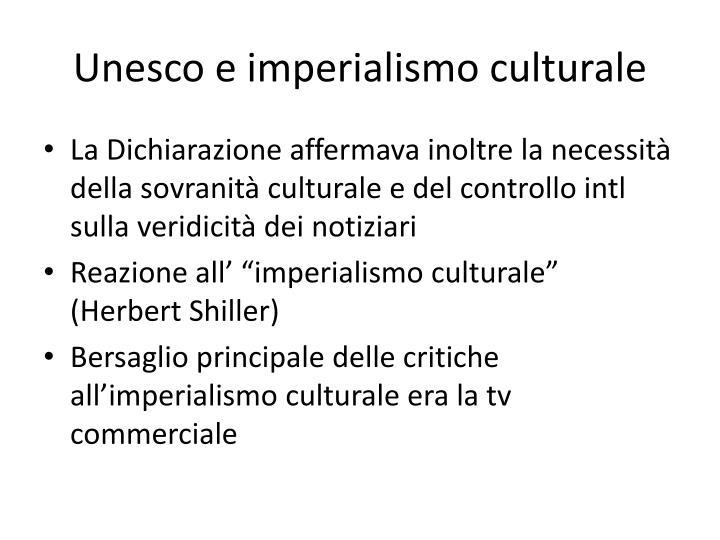 Unesco e imperialismo culturale