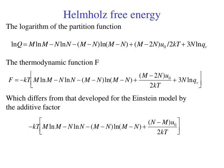 Helmholz free energy