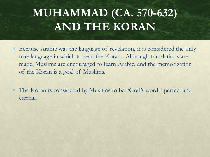 MUHAMMAD (CA. 570-632)