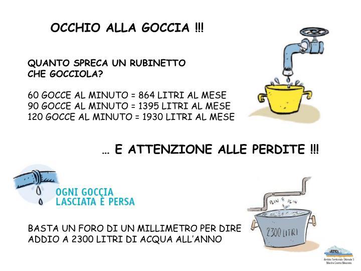 OCCHIO ALLA GOCCIA !!!