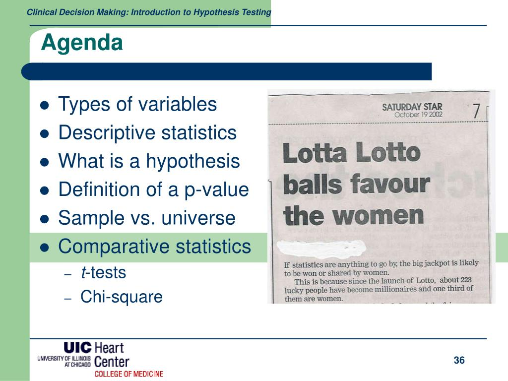 PPT - Medical Statistics: Hypothesis Testing PowerPoint