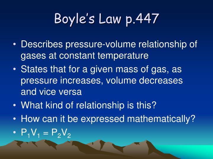 Boyle's Law p.447