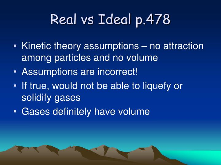 Real vs Ideal p.478