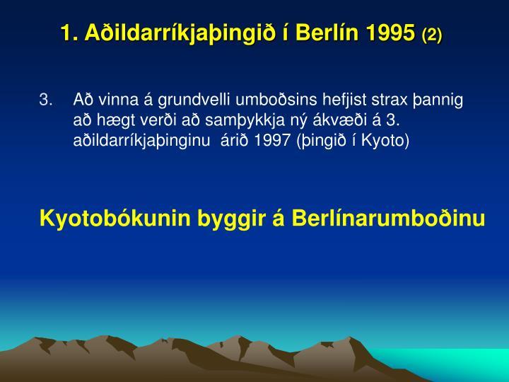 1. Aðildarríkjaþingið í Berlín 1995