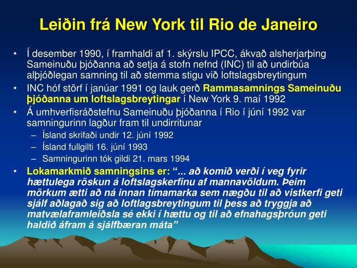 Leiðin frá New York til Rio de Janeiro
