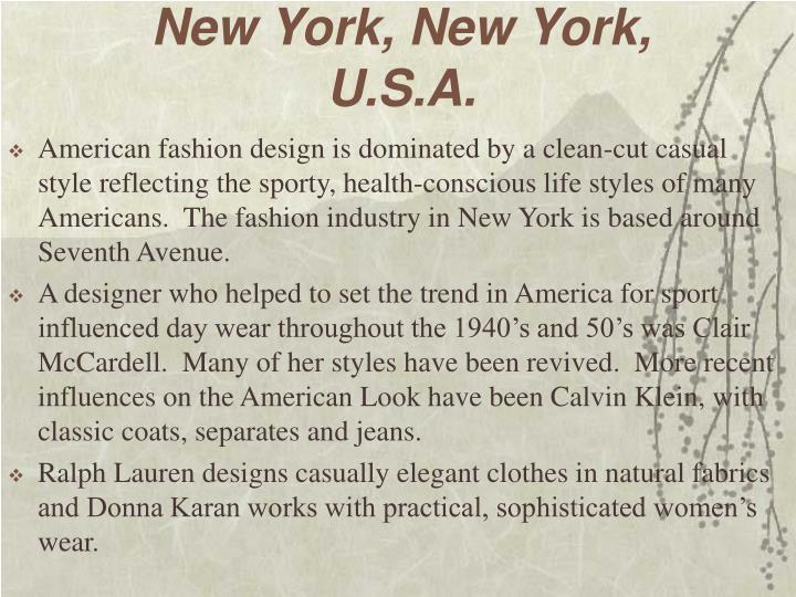New York, New York, U.S.A.