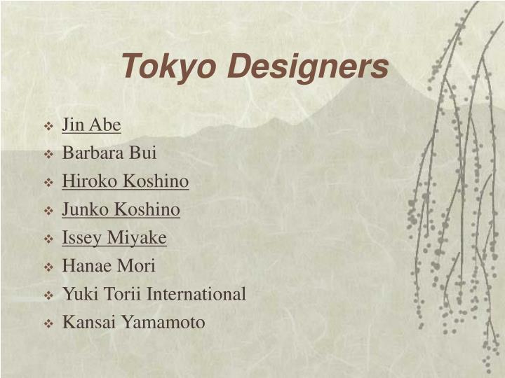 Tokyo Designers