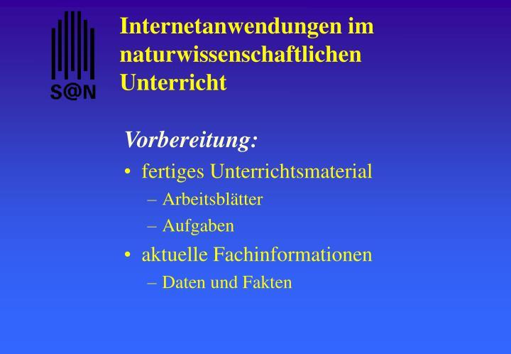 PPT - Internetanwendungen im naturwissenschaftlichen Unterricht ...