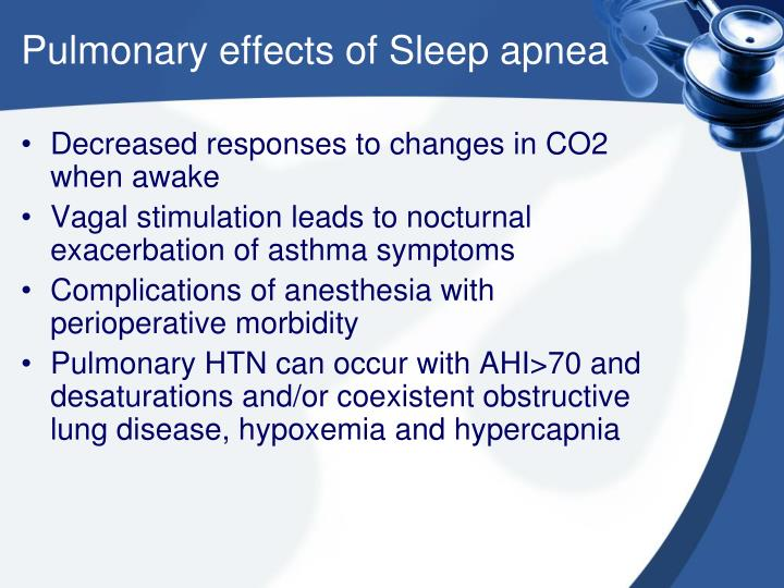 Pulmonary effects of Sleep apnea