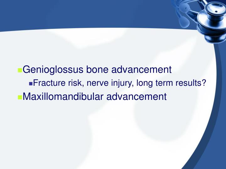 Genioglossus bone advancement
