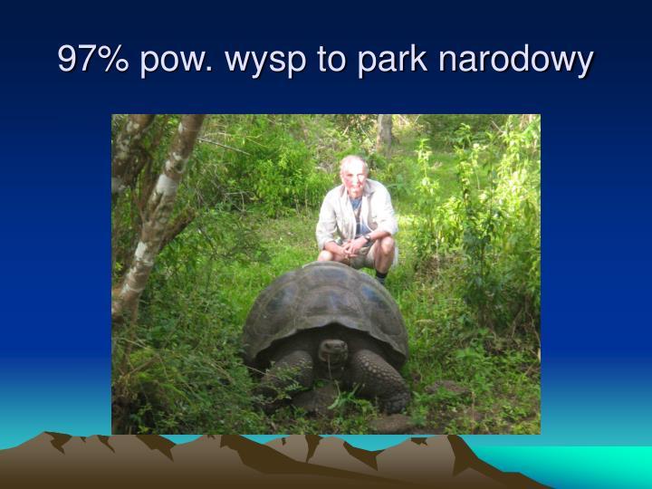 97% pow. wysp to park narodowy
