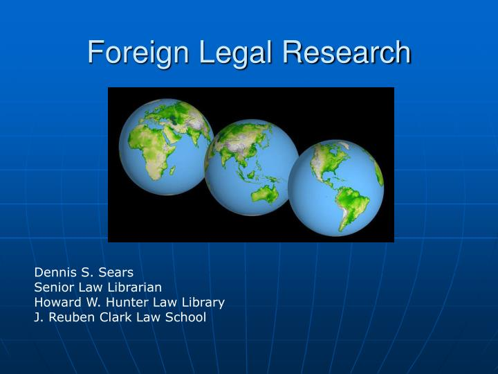 foreign legal research n.