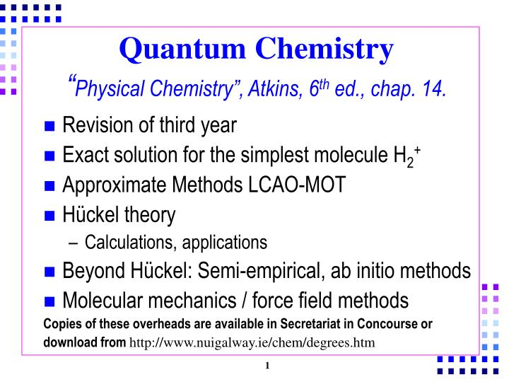 "PPT - Quantum Chemistry "" Physical Chemistry"", Atkins, 6 th"