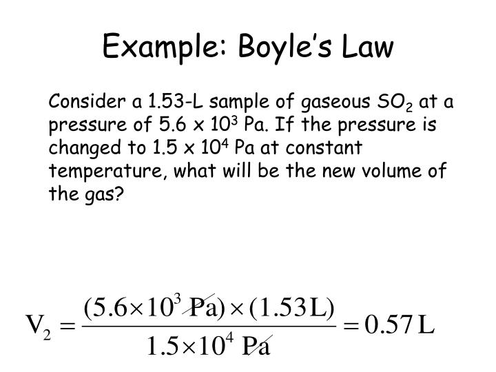 Example boyle s law