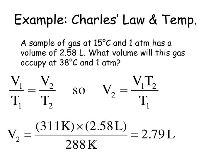 Example: Charles' Law & Temp.