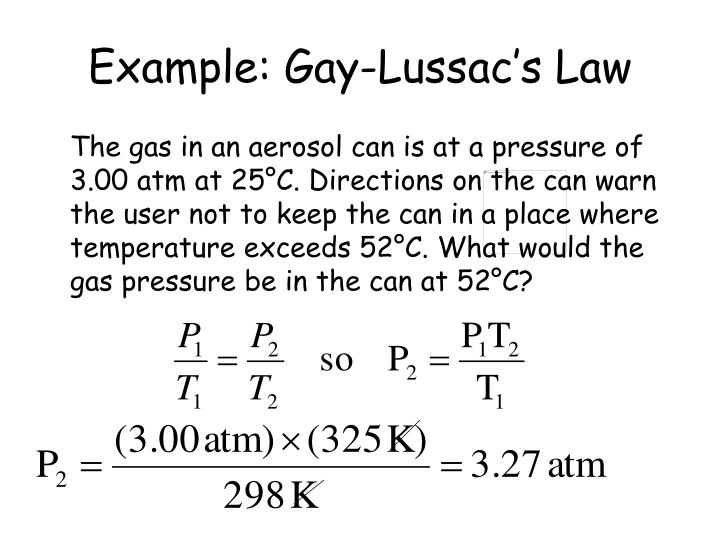Example: Gay-Lussac's Law