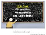 unit 3 4 observation measurement and calculations