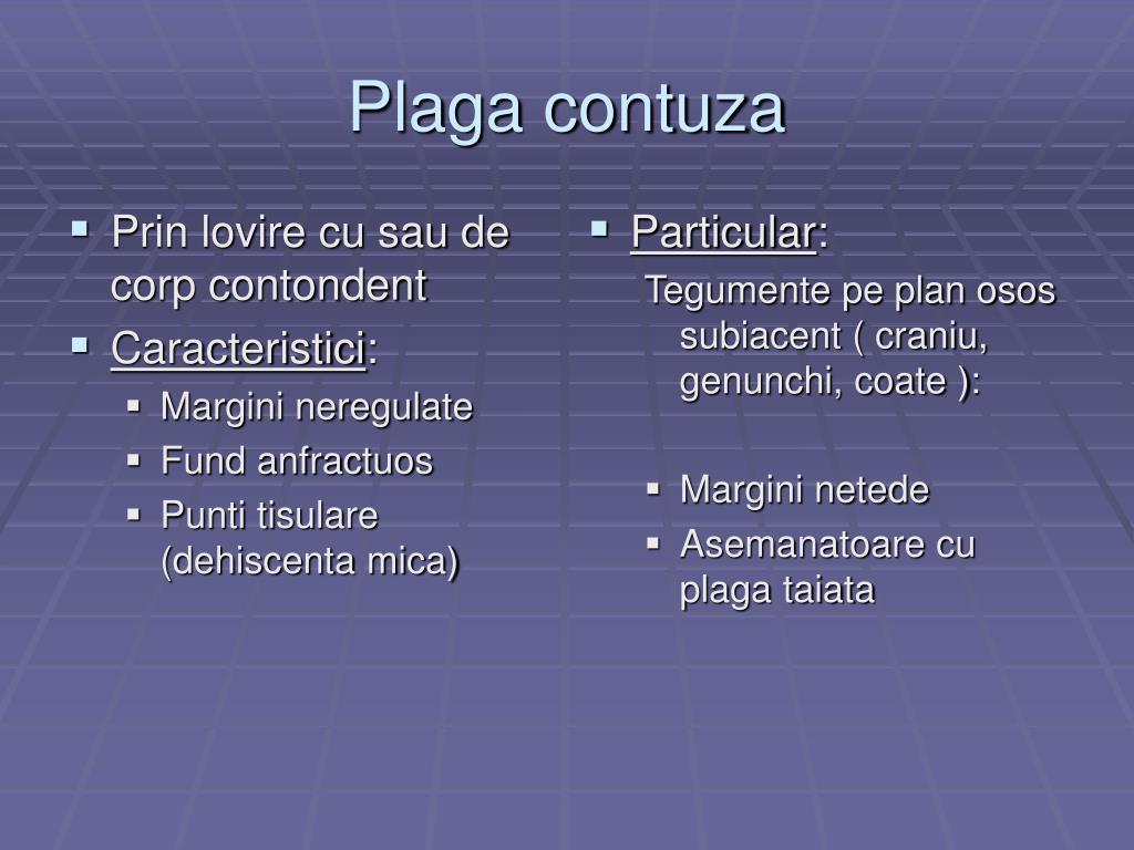 plaga contuza