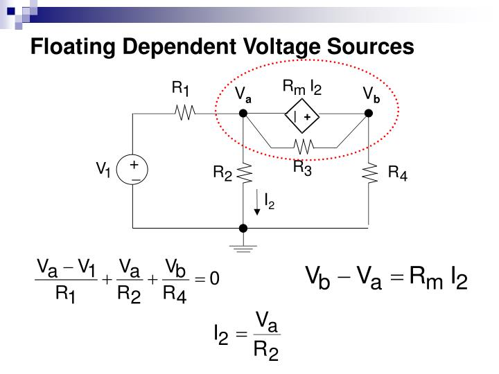 Floating Dependent Voltage Sources