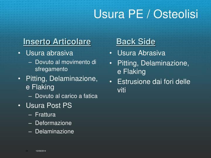 Usura PE / Osteolisi