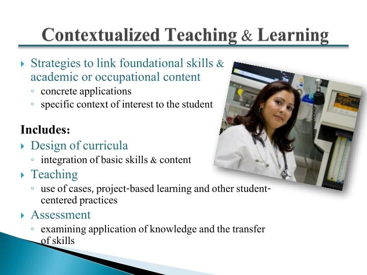 Contextualized teaching learning