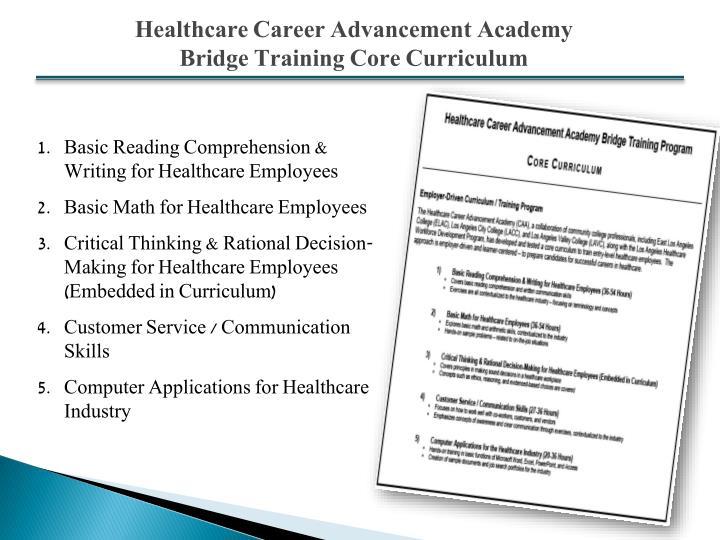 Healthcare Career Advancement Academy