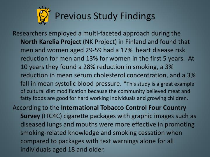 Previous Study Findings