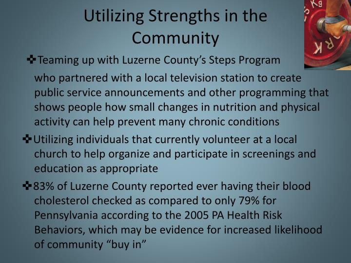 Utilizing Strengths in the
