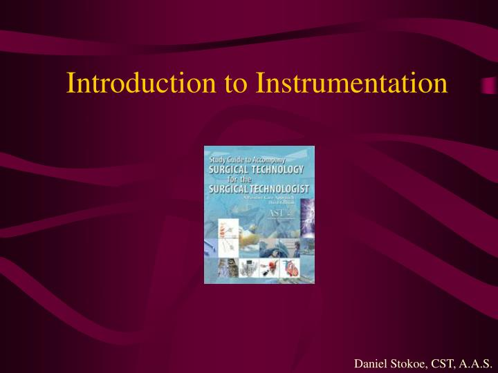 introduction to instrumentation n.