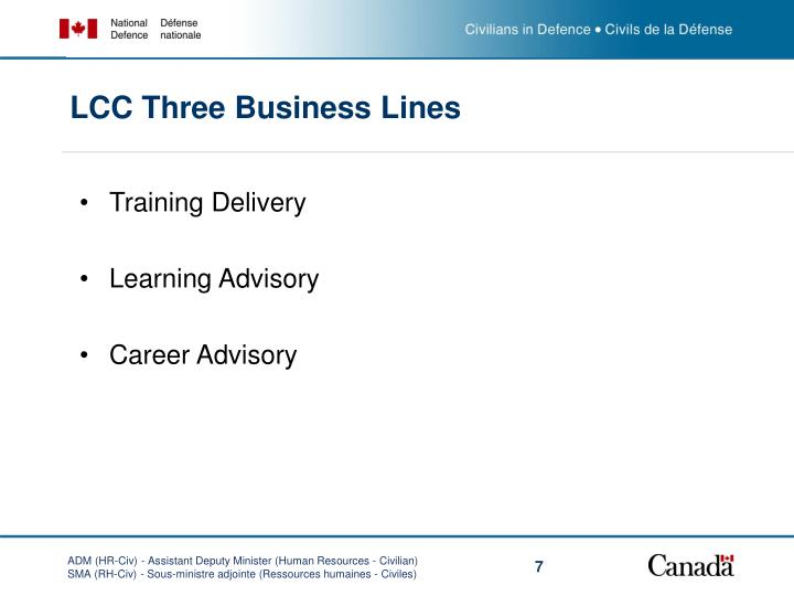 LCC Three Business Lines