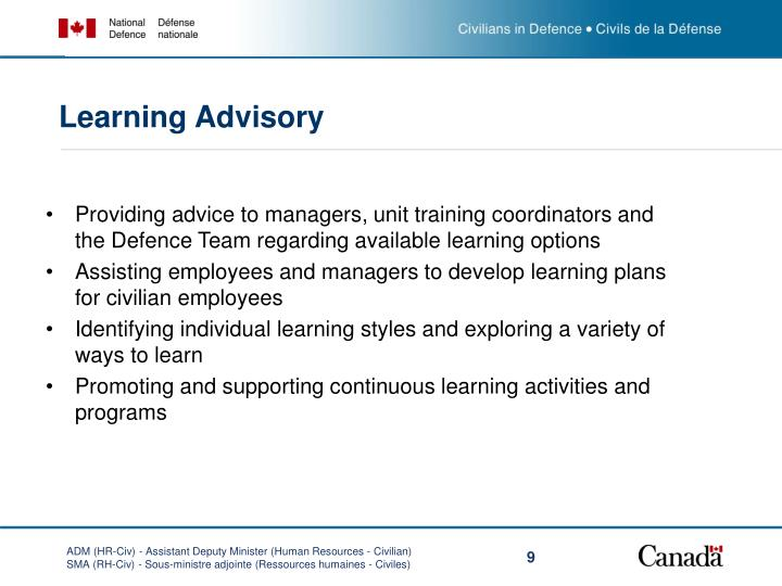 Learning Advisory