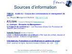 sources d information