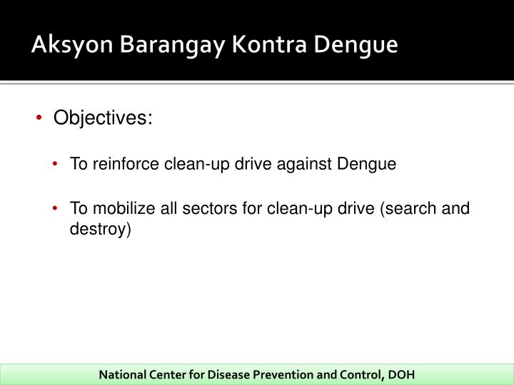 Ppt National Dengue Prevention And Control Program Powerpoint