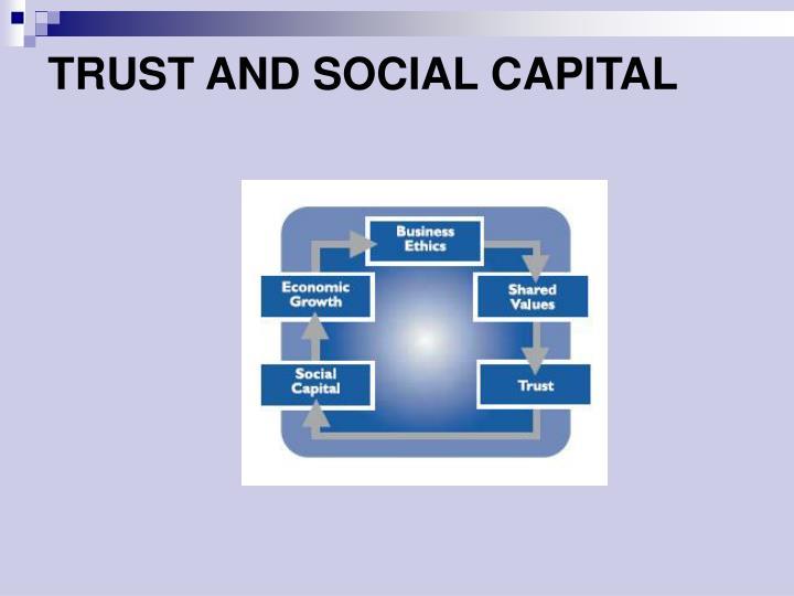 TRUST AND SOCIAL CAPITAL