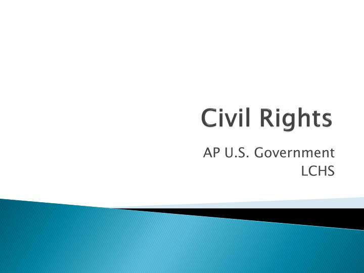 civil rights n.