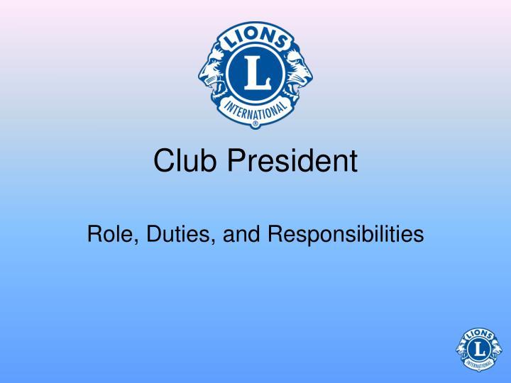 club president n.