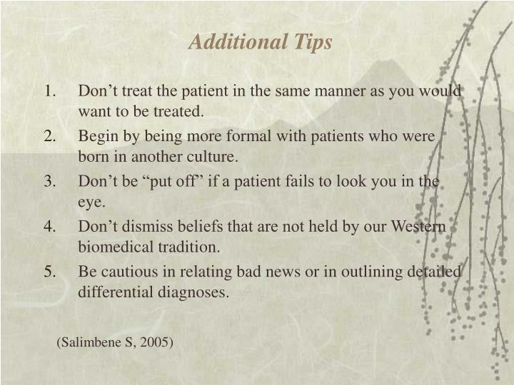 Additional Tips