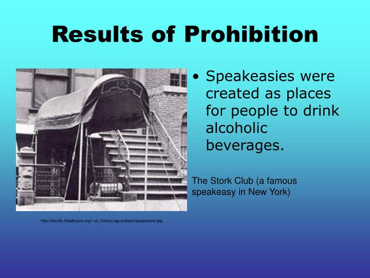 Results of Prohibition