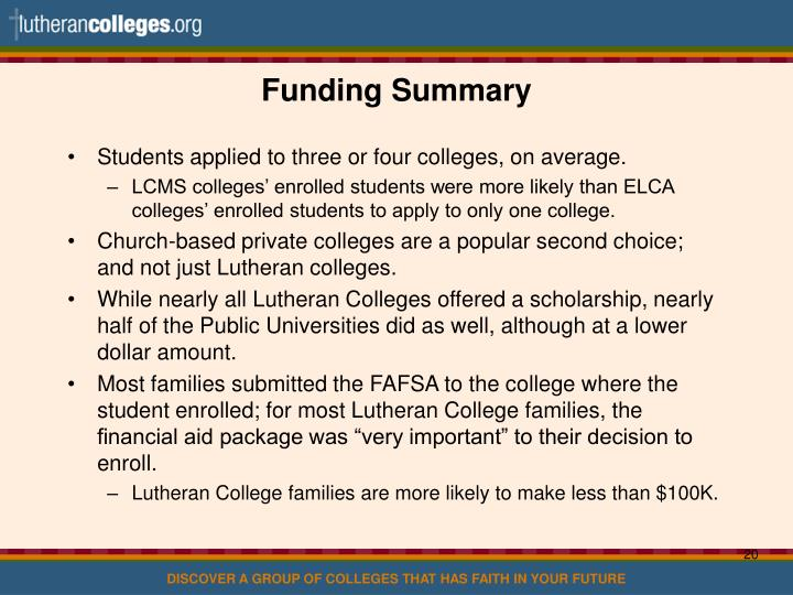 Funding Summary