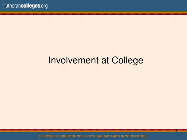Involvement at College