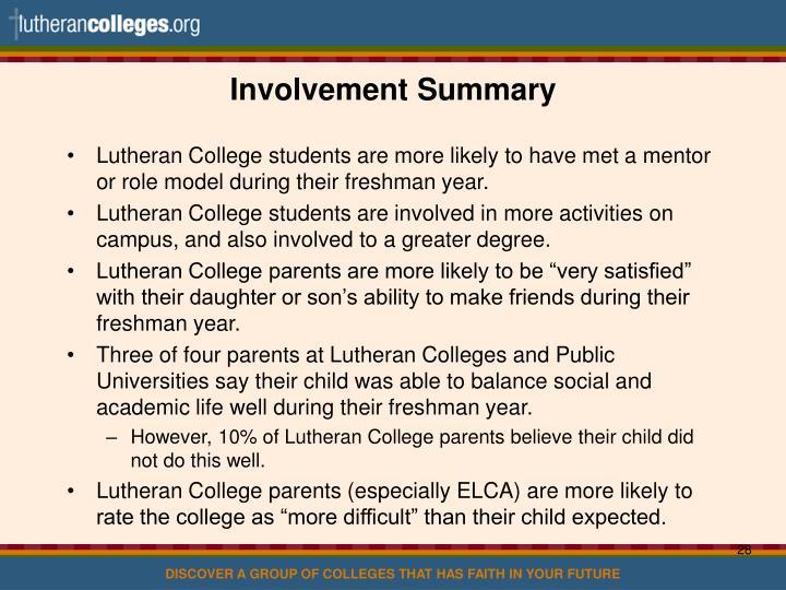 Involvement Summary