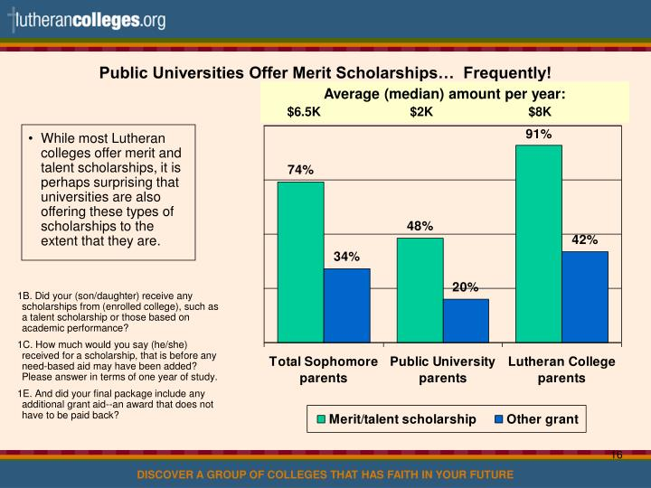 Public Universities Offer Merit Scholarships…  Frequently!