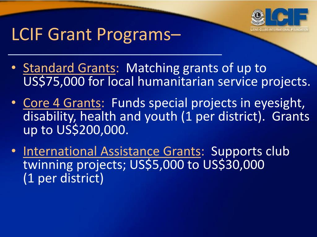 PPT - Lions Clubs International Foundation PowerPoint