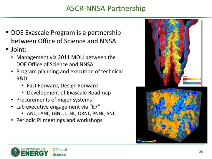 ASCR-NNSA Partnership