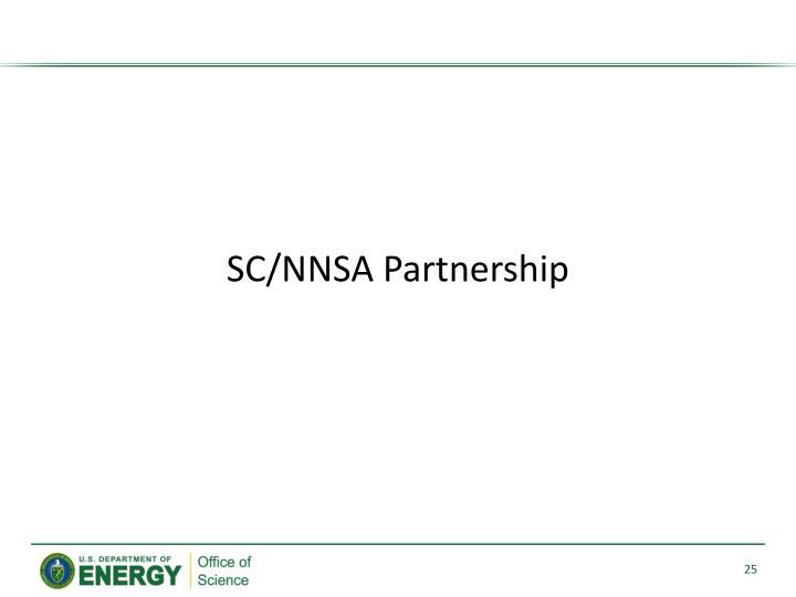SC/NNSA Partnership