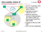 micro mobility cellular ip