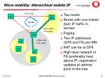 micro mobility hierarchical mobile ip